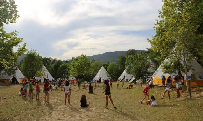 Campamento indio, en Girona