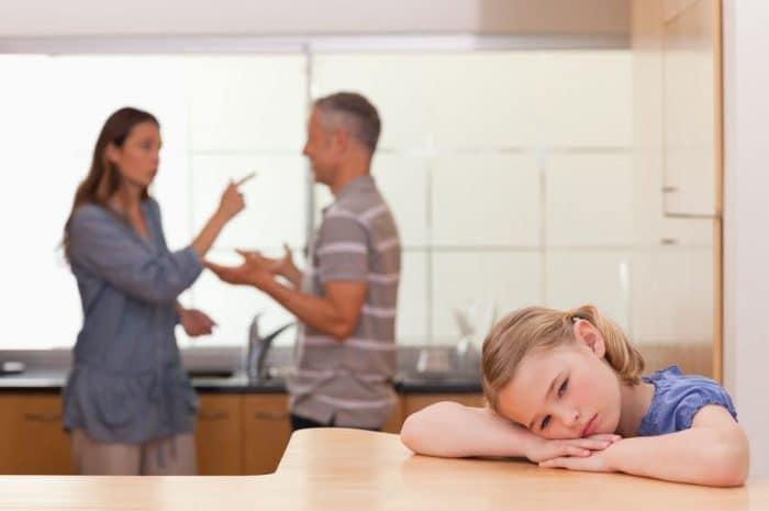 Proteger a los niños de las discusiones en pareja