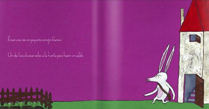 Cuentos para niños con autismo El conejo blanco, de Xosé Ballesteros