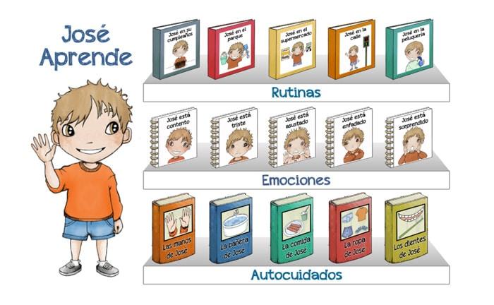 Cuentos para niños con autismo José aprende, de Miriam Reyes Oliva