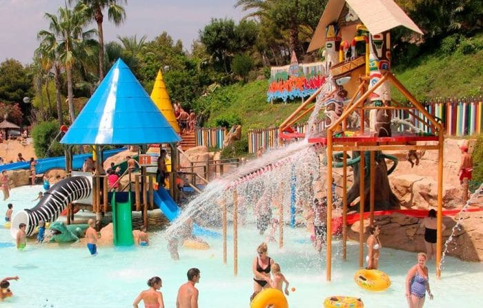 Parque acuático Aqualandia, en Benidorm, Alicante