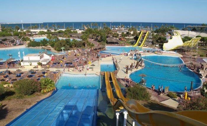 Parque acuático Aquopolis Costa Dorada, en La Pineda, Vilaseca, Tarragona