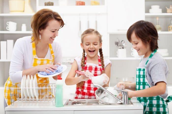 Tareas hogar niños según edad