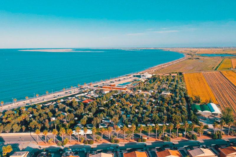 Camping Ampolla Playa, en L'Ampolla, Tarragona