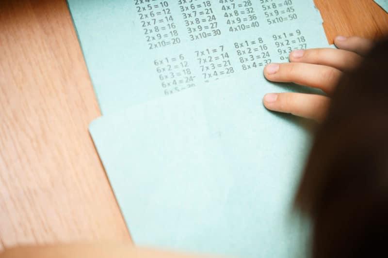 Enseñar tablas de multiplicar