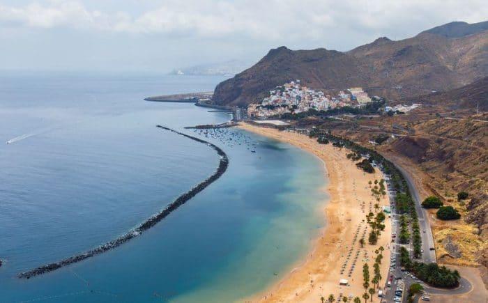 Playa de Las Teresitas, en San Andrés, Santa Cruz de Tenerife