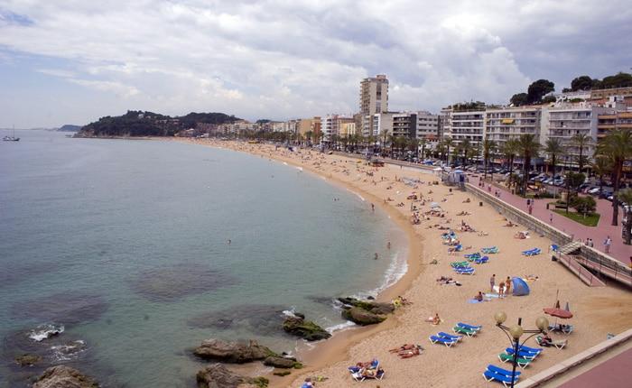 Playa de Lloret, en Lloret de Mar, Girona