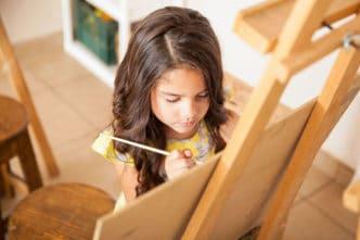 Rincón de arte infantil
