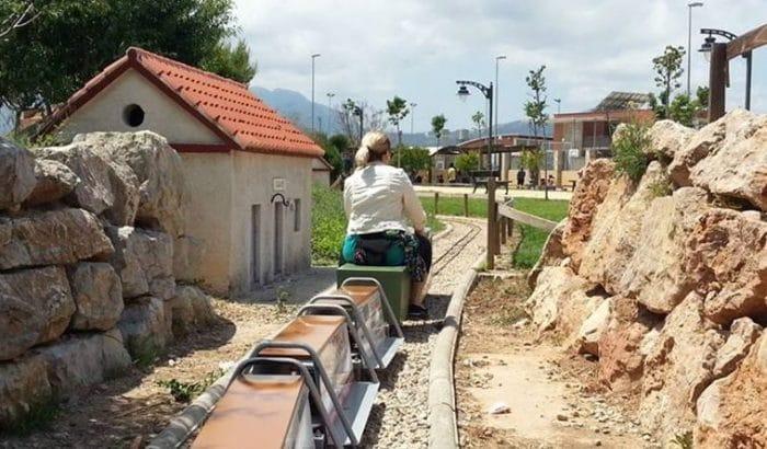 Tren en miniatura Museo del Ferrocarril Alcoy-Gandía, en Valencia