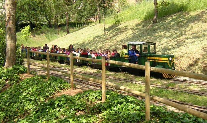 Tren en miniatura Parque Cataluña, en Sabadell