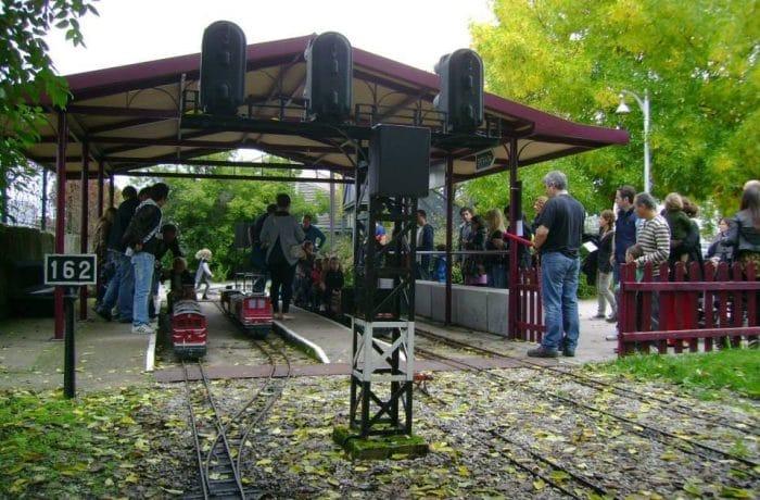 Trenes en miniatura Parque Ferroviario de Os Carrileiros, en Galicia