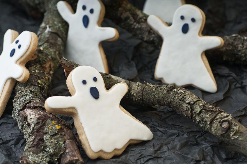 Galletas de fantasmas - Receta de Halloween para niños