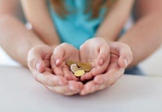 Ahorro en niños pequeños
