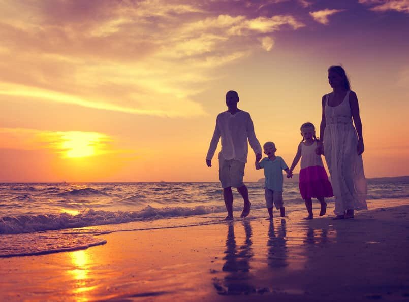 Beneficios de caminar en familia