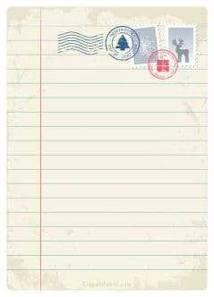 Carta Papa Noel imprimir