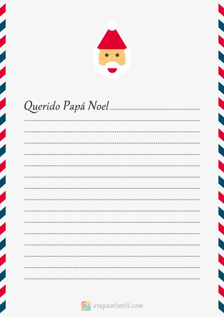 Carta clásica a Papá Noel de los niños