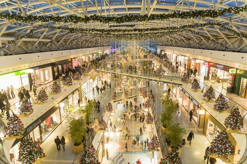 Centro comercial Vasco da Gama, en Lisboa en Navidad