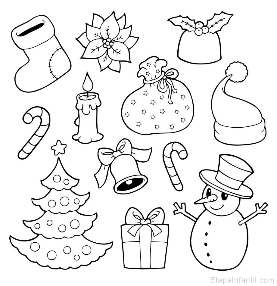 dibujos navide os para colorear etapa infantil