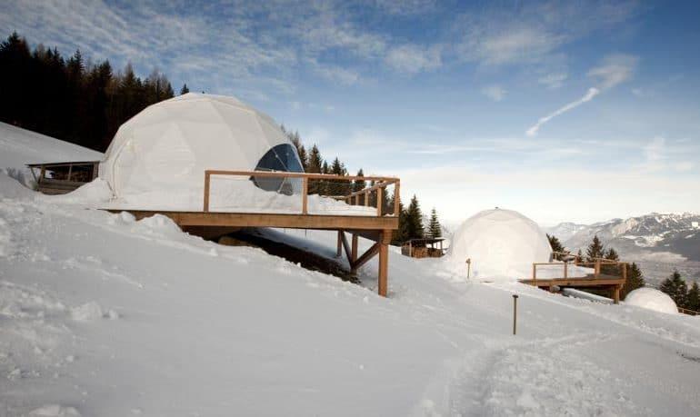 Hotel Whitepod, en Suiza en Navidad