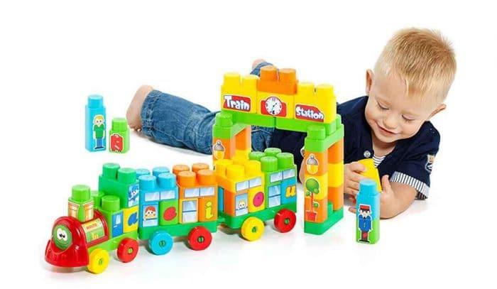 Juguete de construcción para niños Tren Bloques