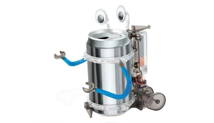 Juguete ecológico infantil Kit robot reciclado móvil