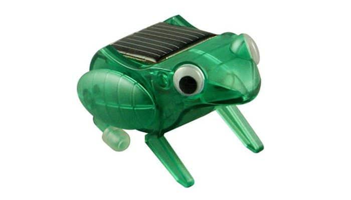 Juguete ecológico para niños Kit rana saltarina solar