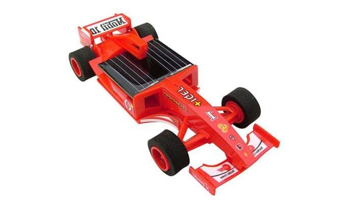 Juguetes ecológicos para niños Kit coche Fórmula 1 solar