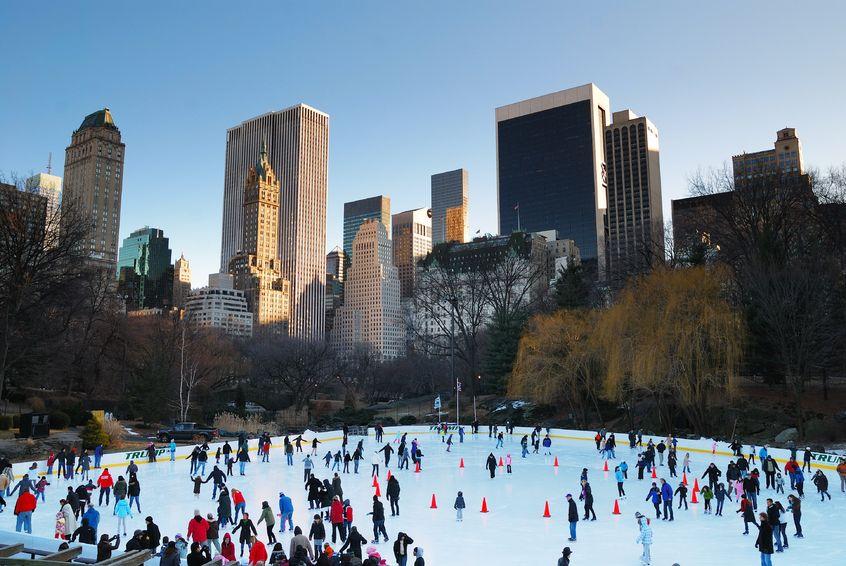 Pista de patinaje Wollman Rink, en Central Park,Nueva York en Navidad