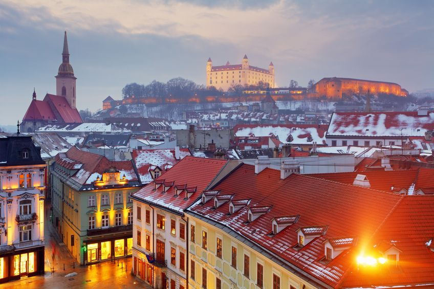 Viajar a Bratislava, Eslovaquia en Navidad