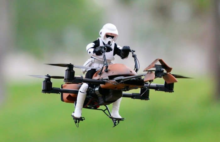 Juguete radiocontrol Drone 74-Z Speeder Bike Star Wars