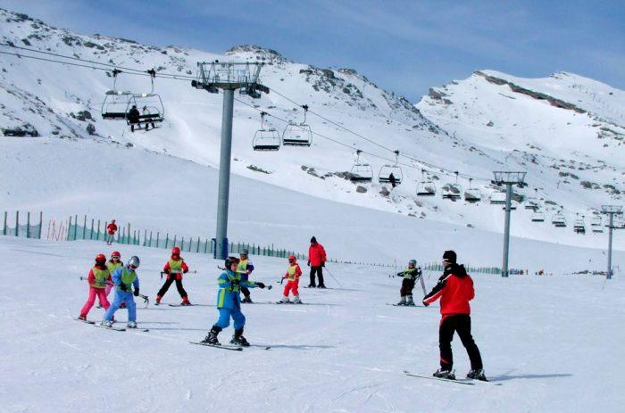 Estación de esquí Alto Campoo, en Cantabria