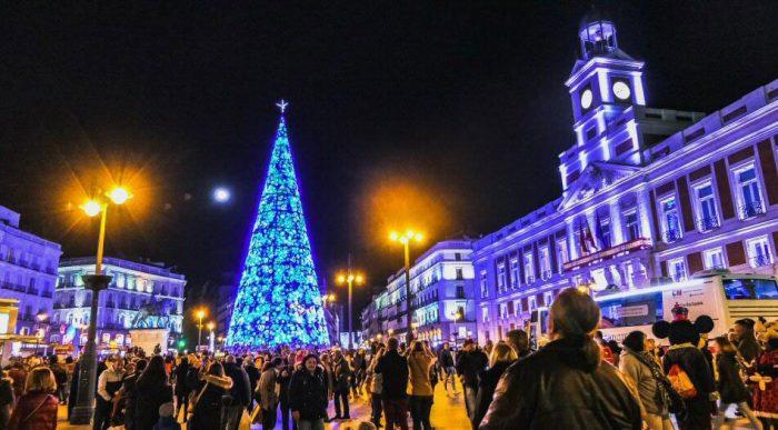 Luces y árbol de Navidad de la Puerta del Sol