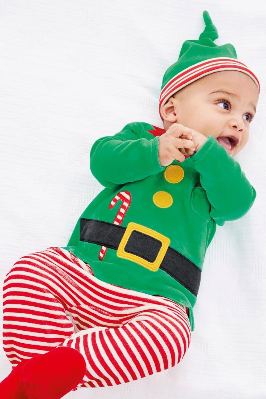 Pelele de elfo de Navidad