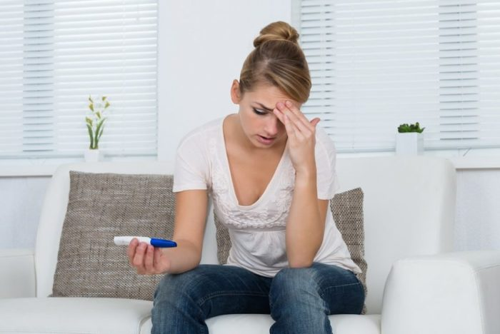 Prueba de embarazo negativa