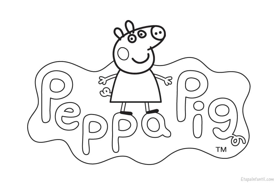 Dibujos De Peppa Para Colorear E Imprimir: Dibujo Peppa Pig Para Colorear