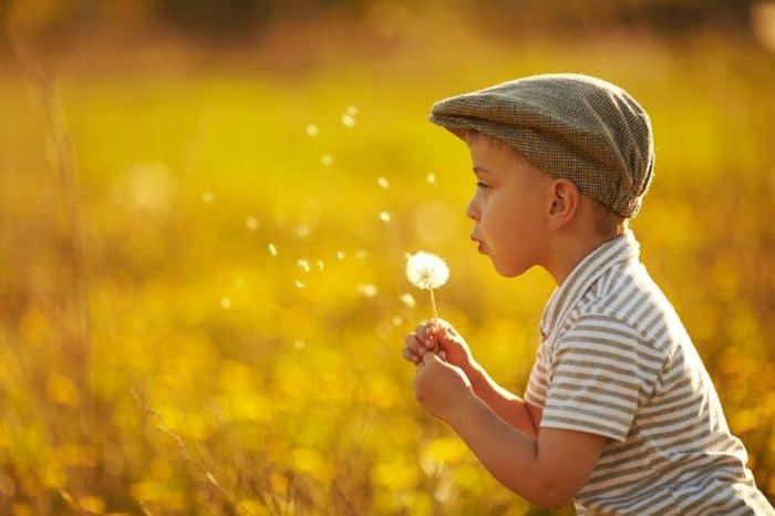 La simplicidad lleva a la felicidad a los niños