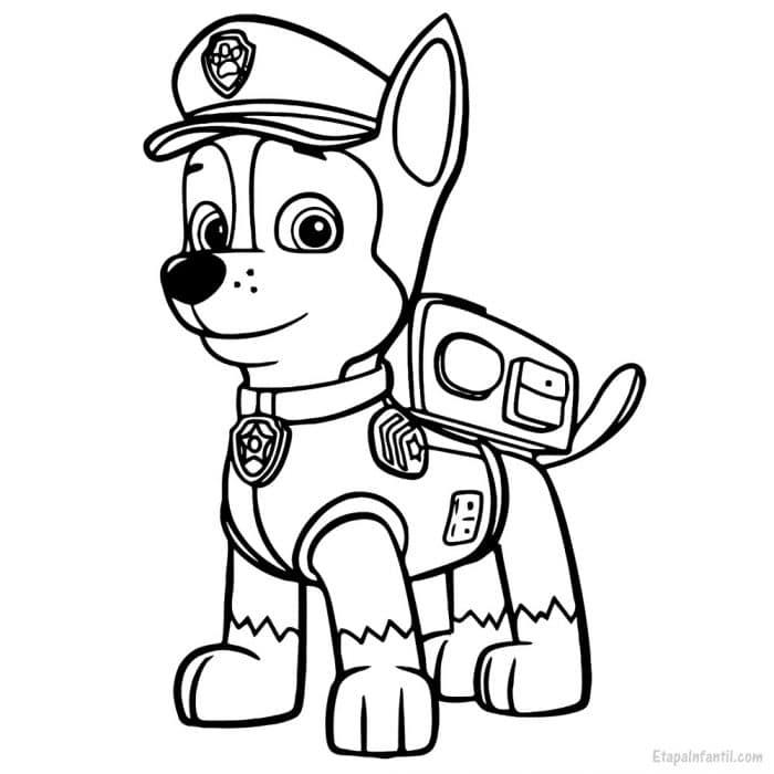 Dibujo colorear Patrulla Canina Chase