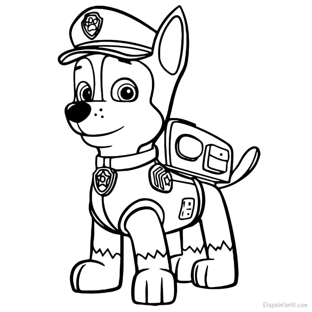 Dibujo colorear La Patrulla Canina Chase