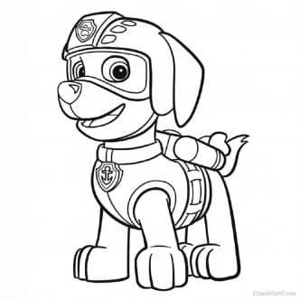 Dibujo colorear La Patrulla Canina Zuma