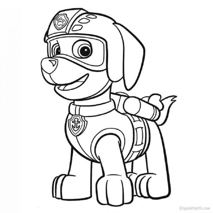 Dibujo colorear Patrulla Canina Zuma