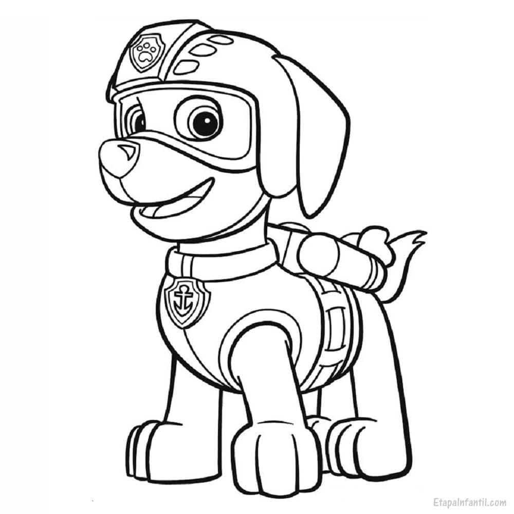 Dibujo para colorear de La Patrulla Canina: Zuma - Etapa Infantil