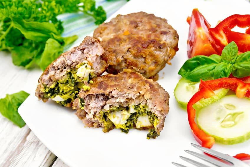 Receta Hamburguesas de carne picada y espinacas