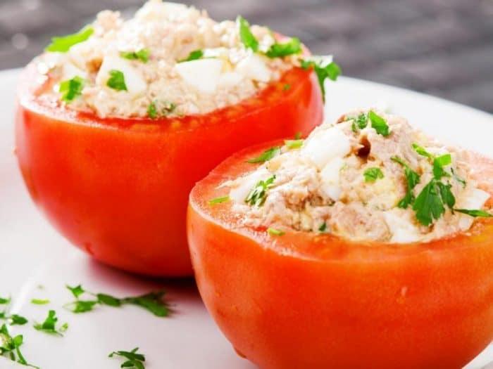 Receta Tomates rellenos de atún