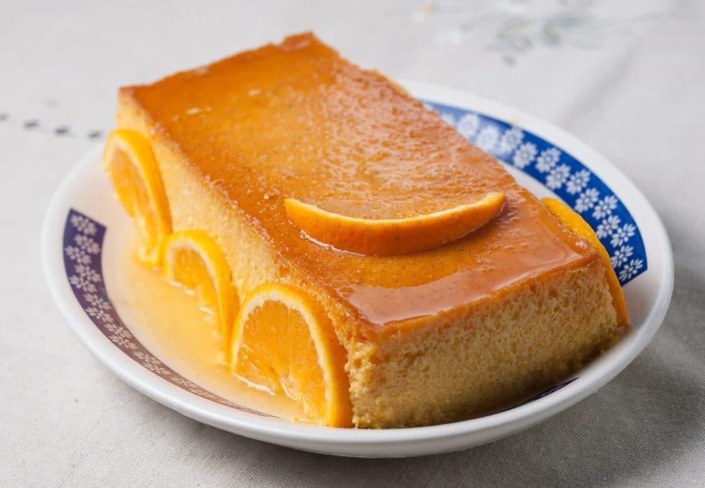 Receta rápida y fácil de Flan de naranja
