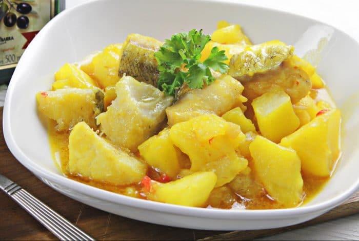 Receta rápida y fácil de Patatas con bacalao