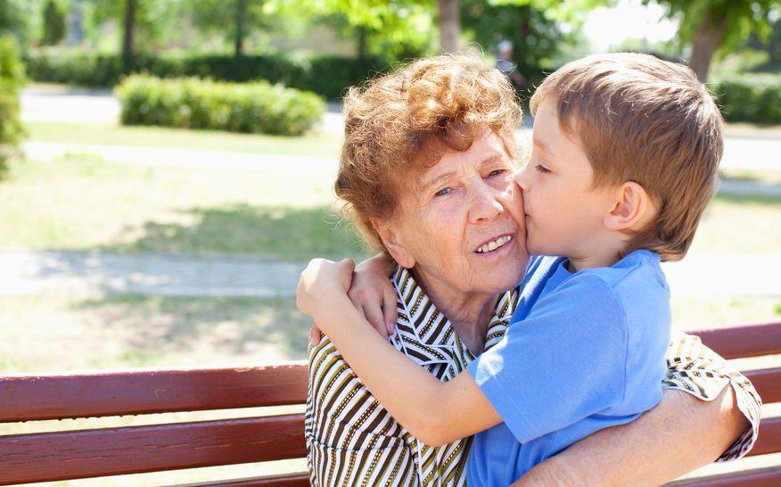 Abuelos padres nietos