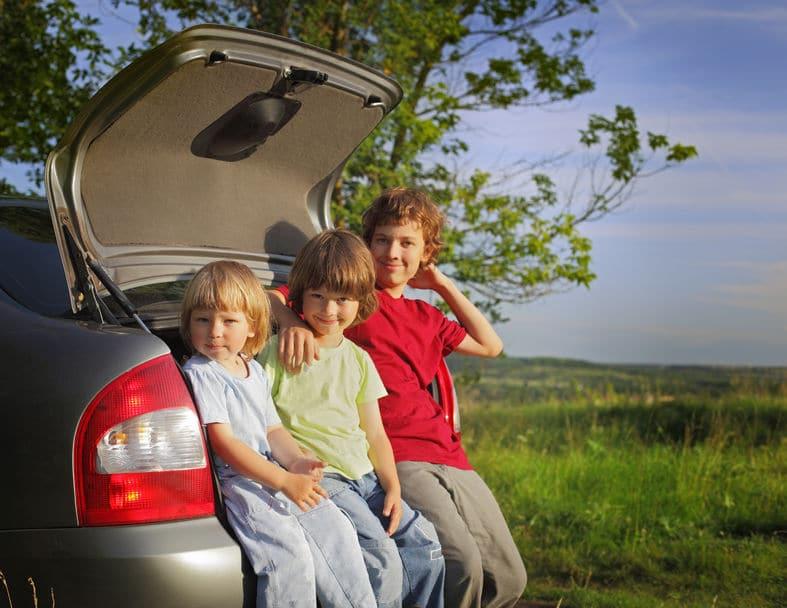 Entretener niños coche