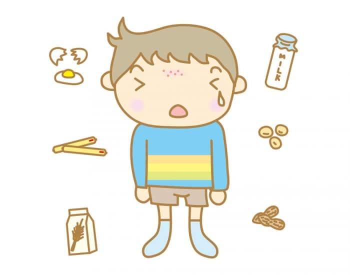 Niños alergia a los alimentos