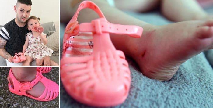 Sandalias goma calzado peligroso niños