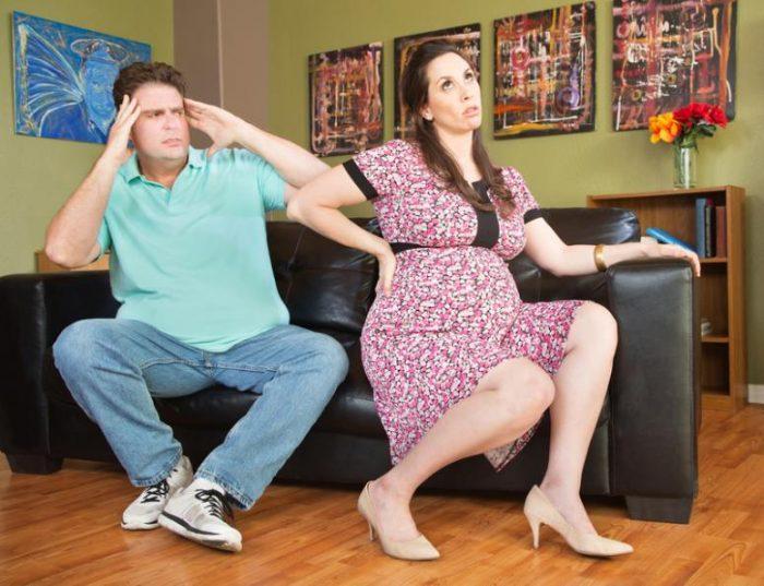 mujer rechaza pareja durante embarazo